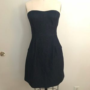 m sized silence + noise denim dress with pockets.